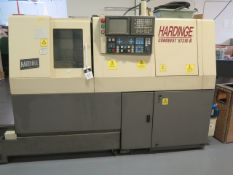 Hardinge Conquest ST-216 Twin Spindle CNC Screw Machine s/n SN-159-16, Fanuc Series 18-T, SOLD AS IS