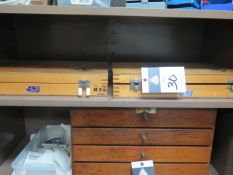 """Meyer .061""""-.250"""" and .251""""=.500"""" Gage Block Sets (2) (SOLD AS-IS - NO WARRANTY)"""