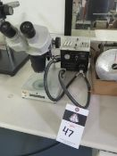 Fisher Scientific Stereo Microscope w/ Light Source (SOLD AS-IS - NO WARRANTY)