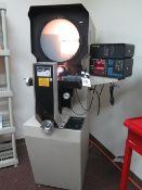 "MicroVu mdl. M103 14"" Optical Comparator w/ MicroVu Q16 Programmable DRO, Optical Edge Detector,"