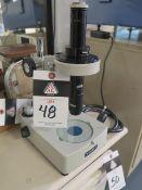 Meiji Microscope w/ Light Source (MISSING OCCULAR LENS) (SOLD AS-IS - NO WARRANTY)