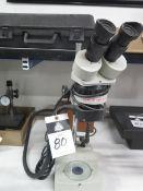 Meiji Stereo Microscope w/ Light Source (SOLD AS-IS - NO WARRANTY)