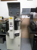"""Mitutoyo PH-3500 15"""" Optical Comparator s/n 750161 w/ Mitutoyo UDR-220 Programmable DRO, Digital"""