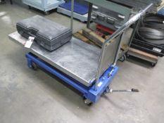 Hydraulic Scissor Lift Table (SOLD AS-IS - NO WARRANTY)