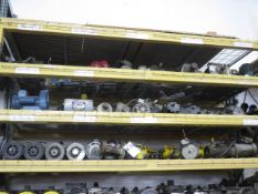 Electric Motors and Machine Parts (3-Shelves) (SOLD AS-IS - NO WARRANTY)