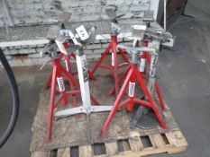 Material Support Stands (7) (SOLD AS-IS - NO WARRANTY)