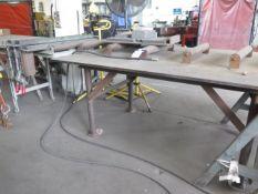 "36"" Butt Welding Fixture w/ Conveyor Tables (SOLD AS-IS - NO WARRANTY)"