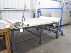 Fabric Cutting Table w/ Su Lee Fabric Saw (SOLD AS-IS - NO WARRANTY)