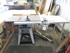 Delta Tilting Arbor Table Saw w/ Table Extension and Fence System (SOLD AS-IS - NO WARRANTY)