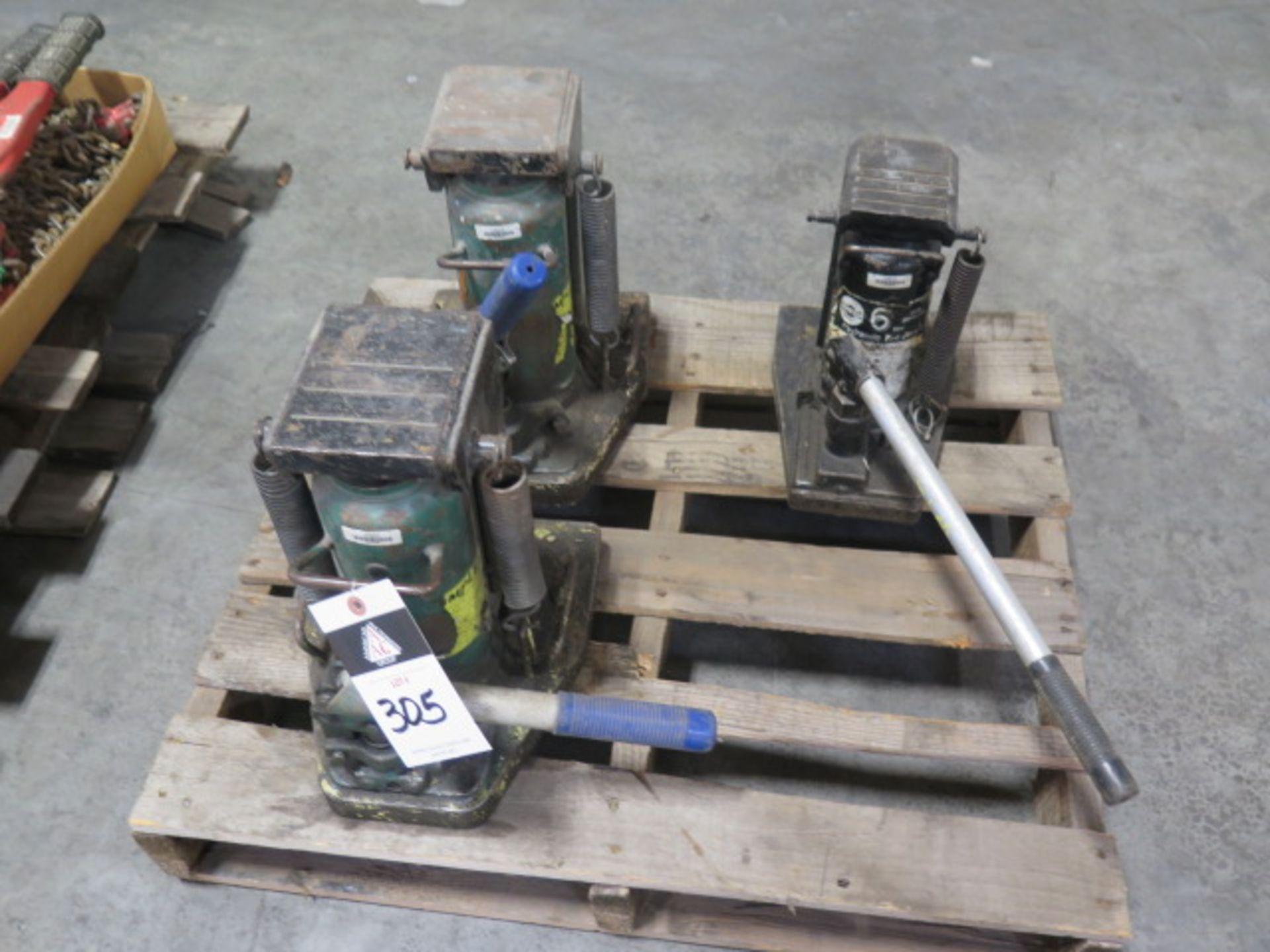 Simplex 10 Ton Hydrauic Machinery Jacks (2) and Omega 6 Ton Hydraulic Machinery Jack (SOLD AS-IS -