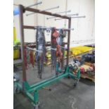 Chain Come-Alongs (4), Chain Tensioners (6) Chain and Cart (SOLD AS-IS - NO WARRANTY)