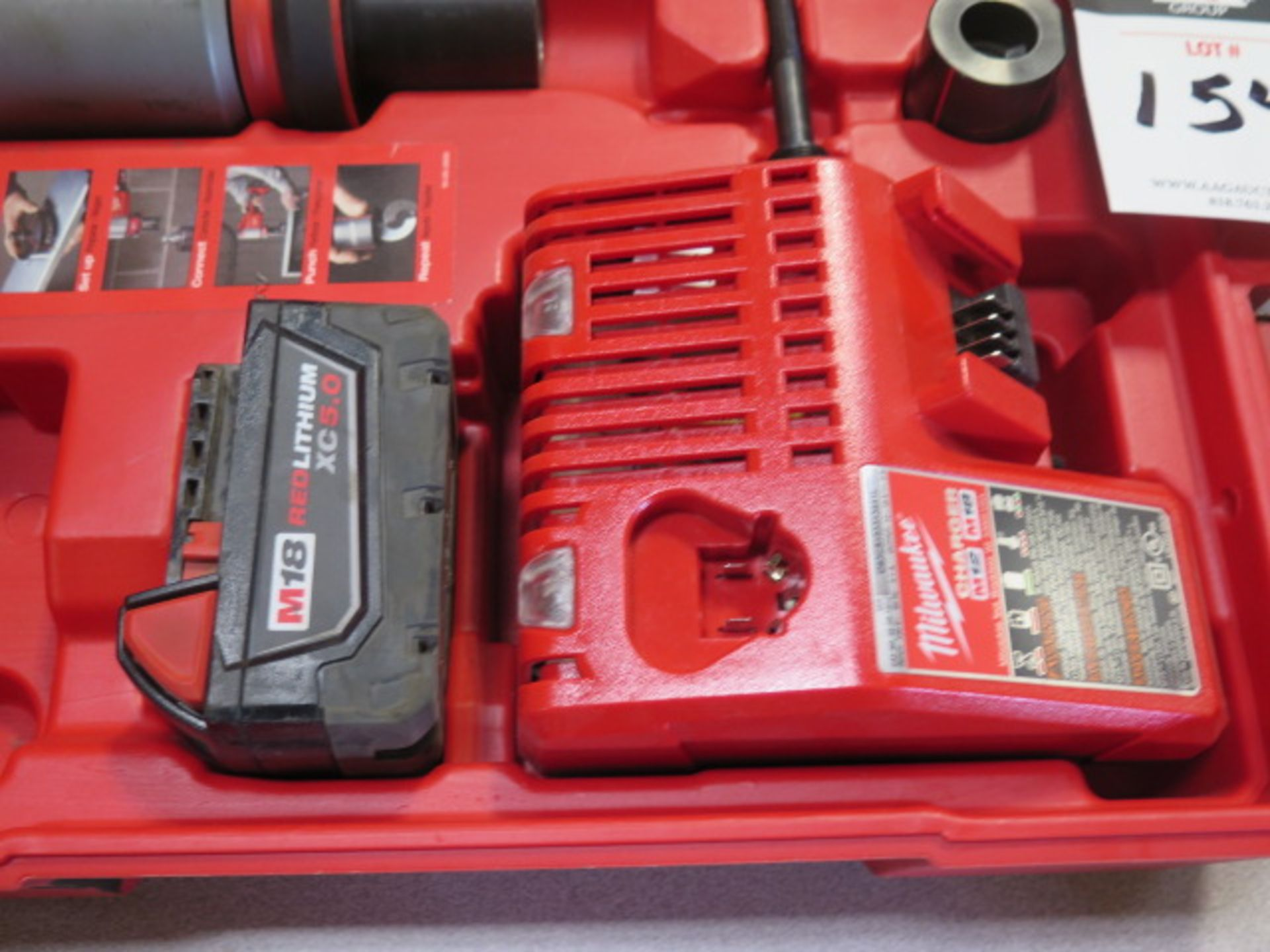 Milwaukee 18 Volt 10-Ton Knockout Tool Punch Set (SOLD AS-IS - NO WARRANTY) - Image 5 of 6
