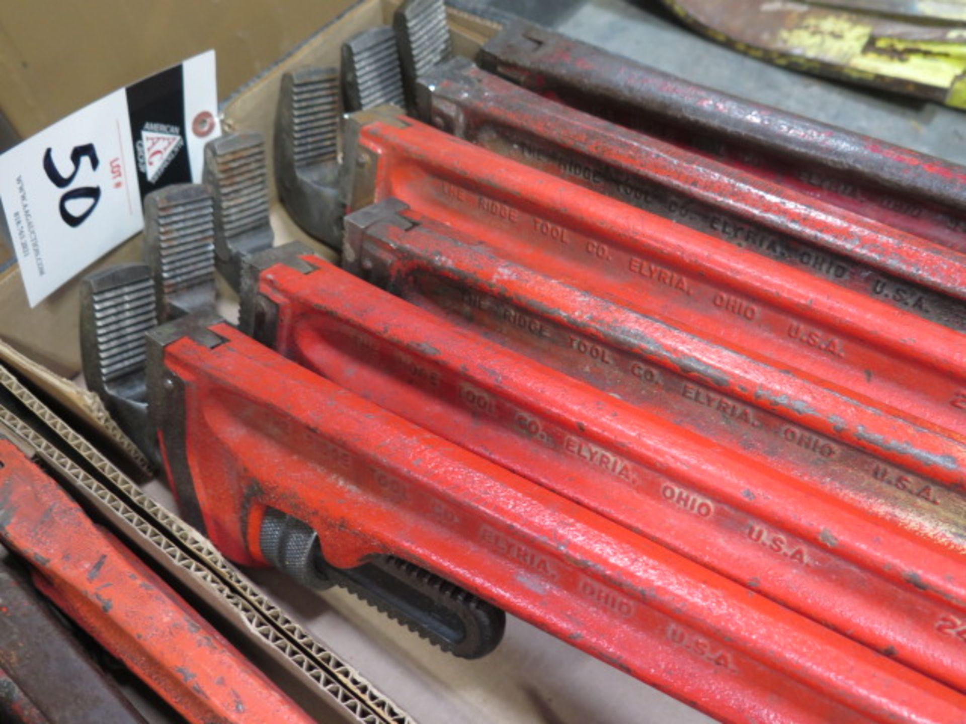 """Ridgid 18"""" and 24"""" Pipe Wrenches (10) (SOLD AS-IS - NO WARRANTY) - Image 3 of 5"""
