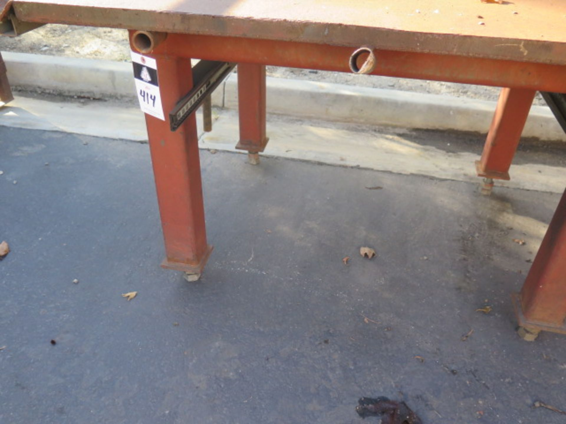 "4' x 8' x 1 1/2"" Steel Welding Table (SOLD AS-IS - NO WARRANTY) - Image 4 of 5"