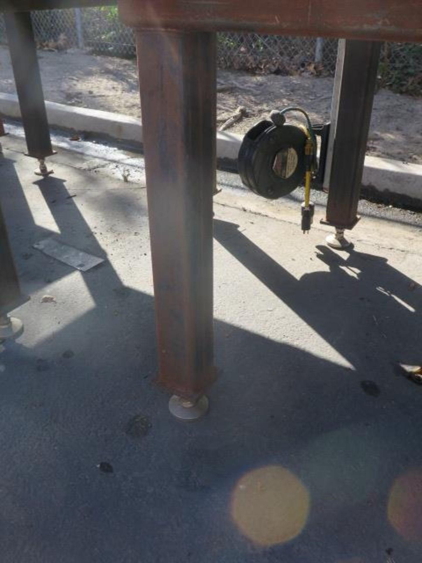 """5' x 5' x 1"""" Steel Welding Table w/ Wilton 6"""" Bench Vise (SOLD AS-IS - NO WARRANTY) - Image 5 of 8"""