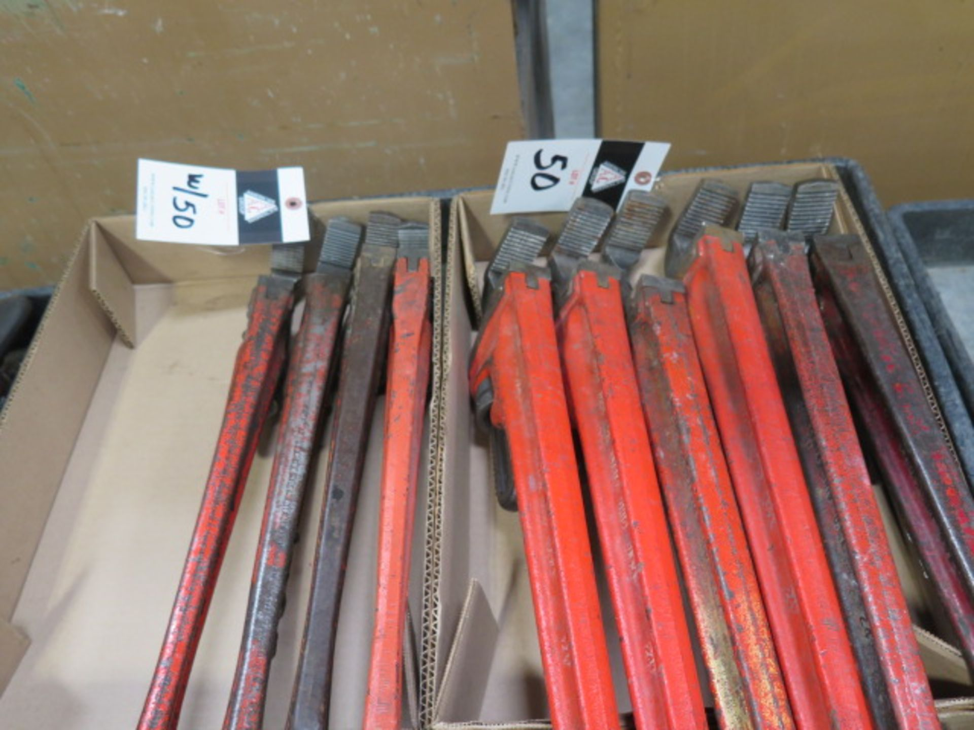 """Ridgid 18"""" and 24"""" Pipe Wrenches (10) (SOLD AS-IS - NO WARRANTY)"""