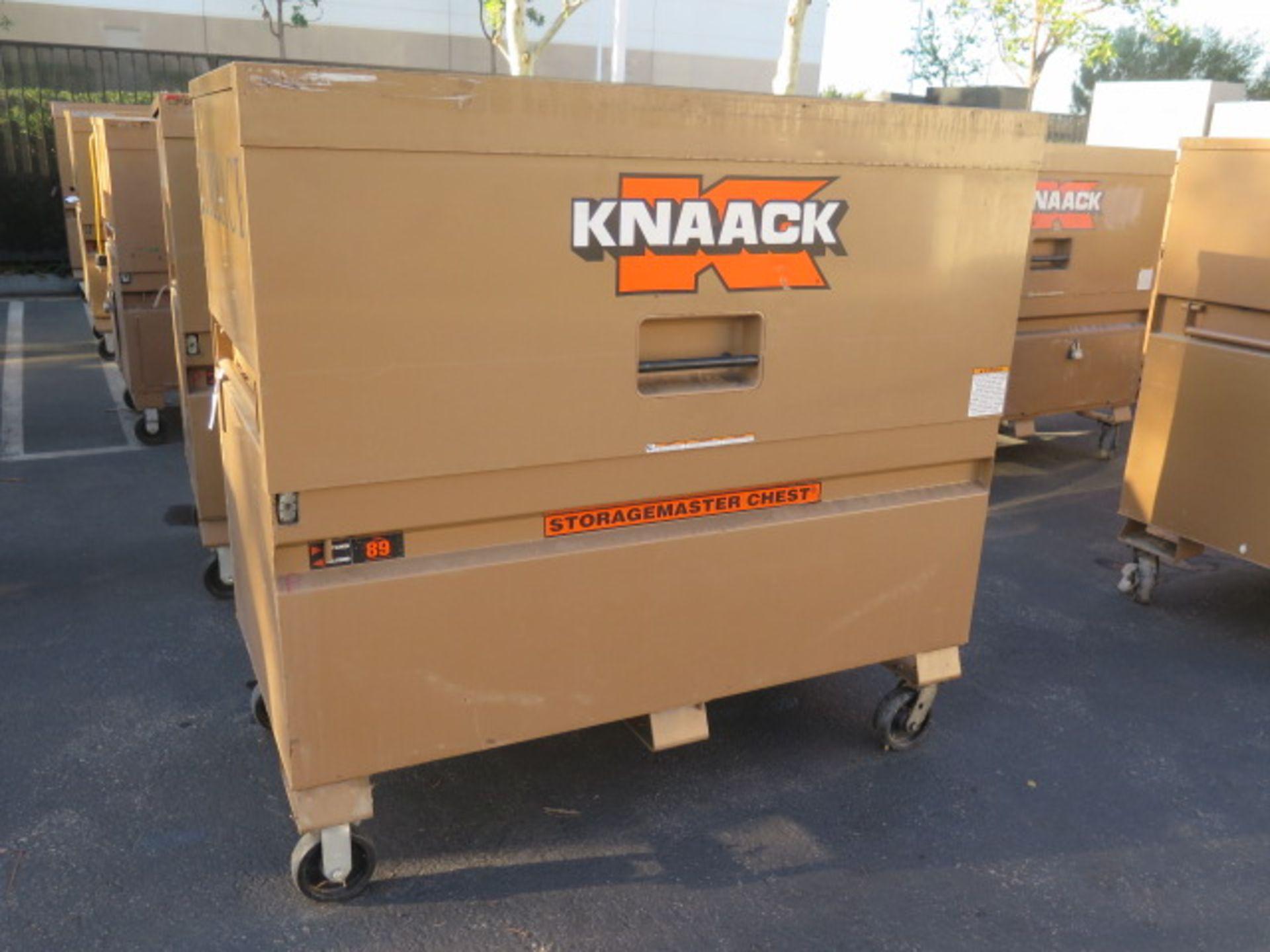 Knaack mdl. 89 Storagemaster Rolling Job Box w/ Come-Alongs (SOLD AS-IS - NO WARRANTY)