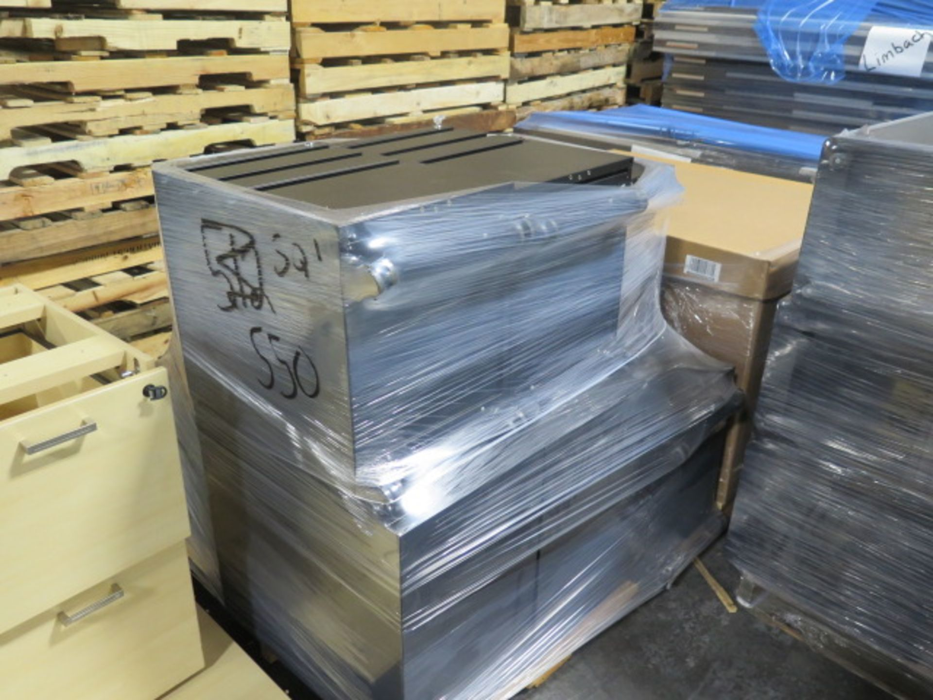 Large Quantity of Office Partitions, Desks, File Cabinets and Storage Cabinets (SOLD AS-IS - NO WARA - Image 3 of 24