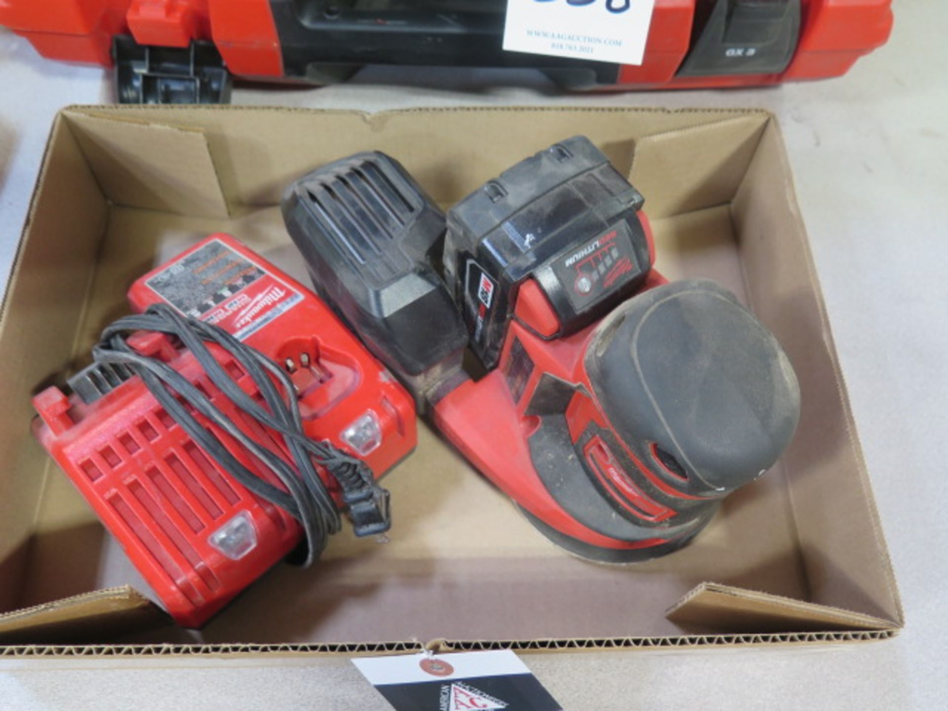 Milwaukee 18 Volt Orbital Sander w/ Charger (SOLD AS-IS - NO WARRANTY) - Image 2 of 6