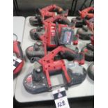 Milwaukee 18 Volt Compact Portable Band Saws (4) (SOLD AS-IS - NO WARRANTY)