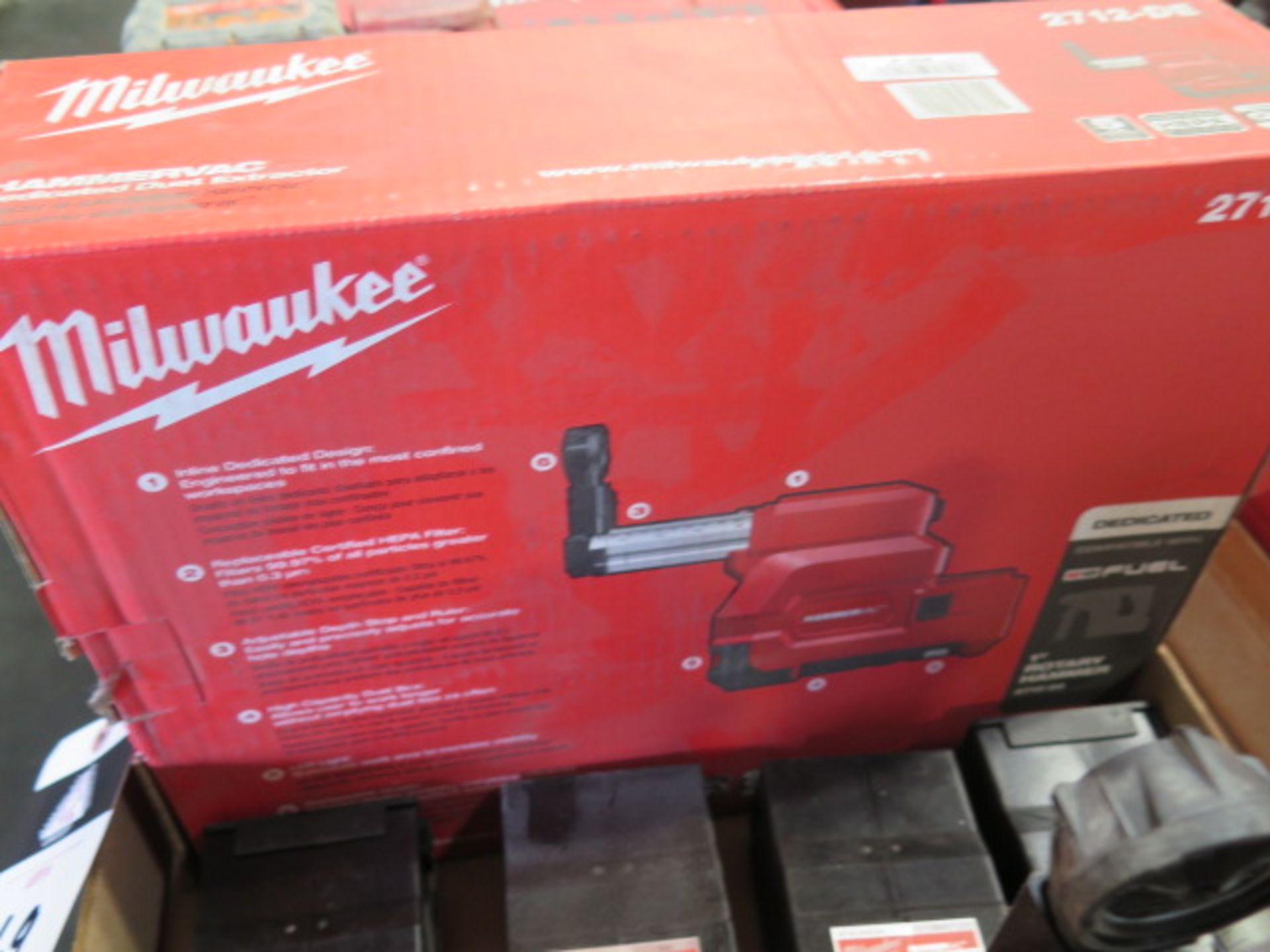 Milwaukee Dust Extractor (NEW) and (4) Filter Boxes (SOLD AS-IS - NO WARRANTY) - Image 3 of 4