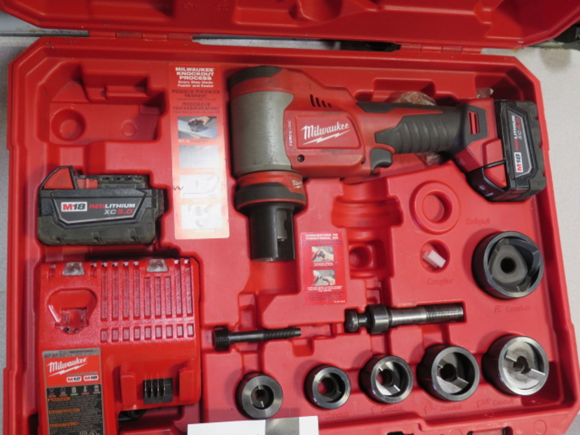 Milwaukee 18 Volt 10-Ton Knockout Tool Punch Set (SOLD AS-IS - NO WARRANTY) - Image 2 of 6