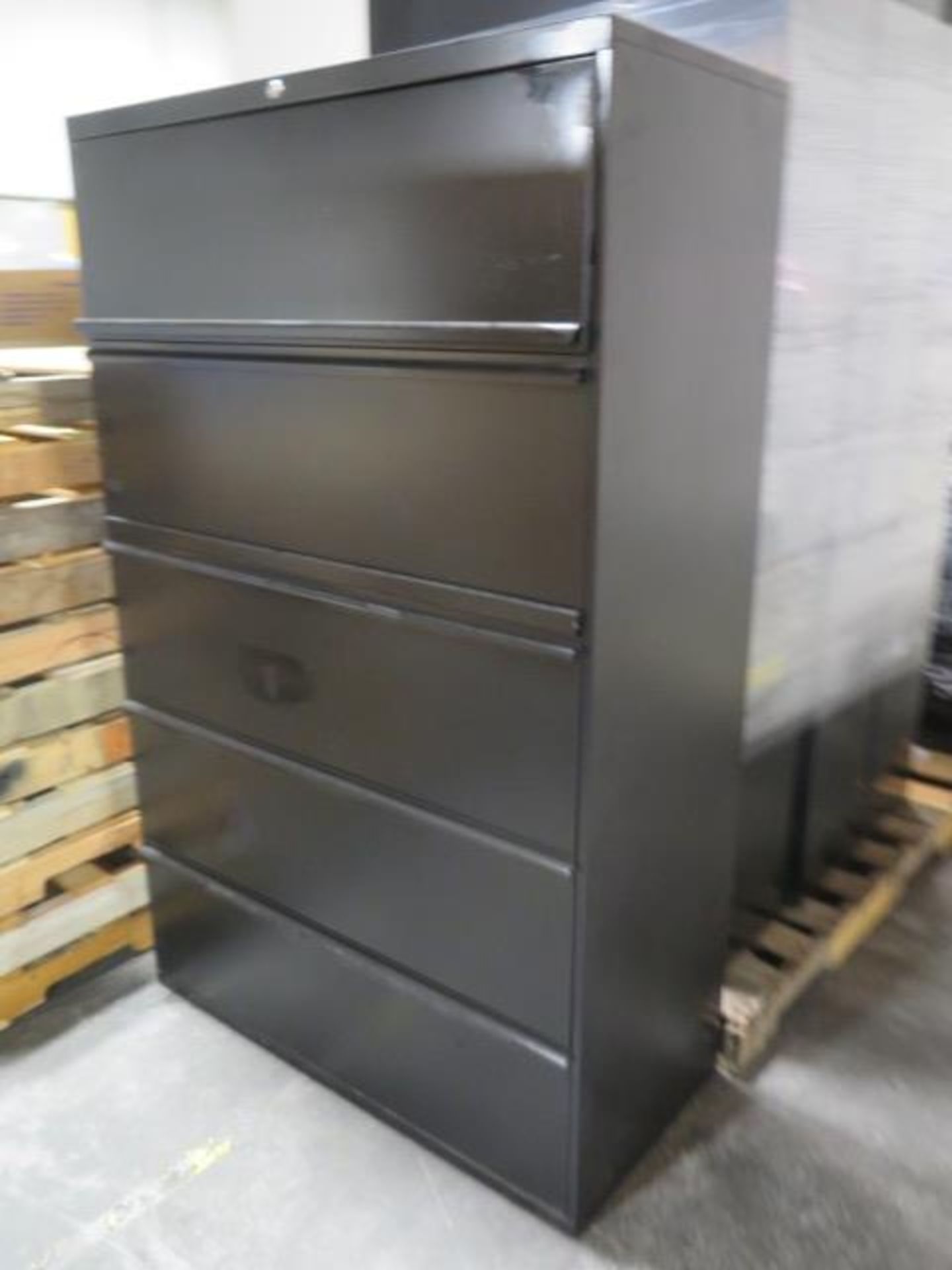 Large Quantity of Office Partitions, Desks, File Cabinets and Storage Cabinets (SOLD AS-IS - NO WARA - Image 13 of 24