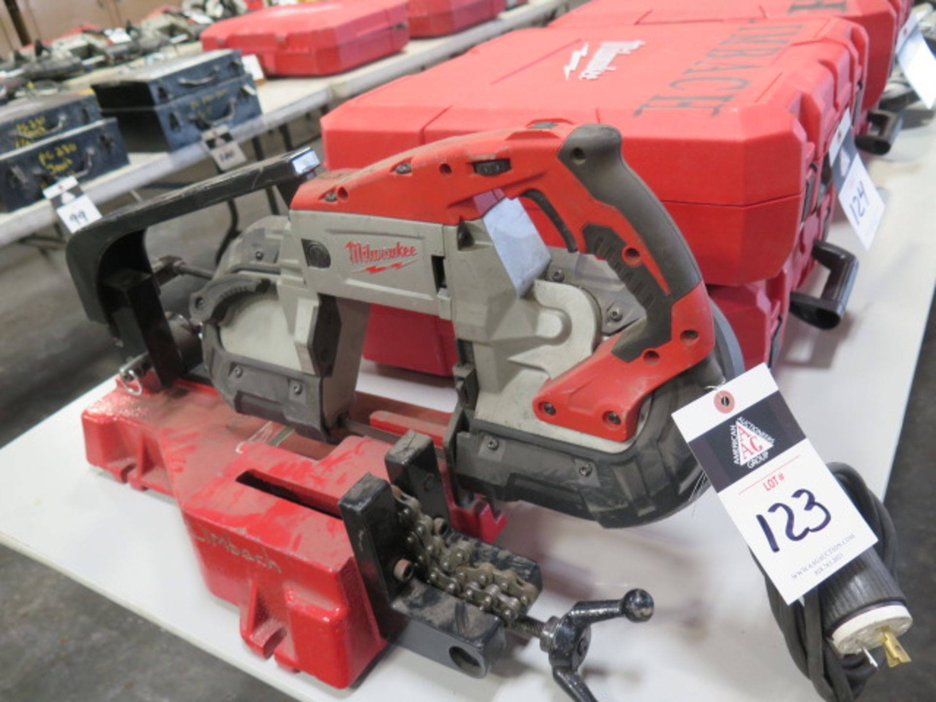 Milwaukee Deep Cut Electric Band Saw w/ Saw Stand (SOLD AS-IS - NO WARRANTY)