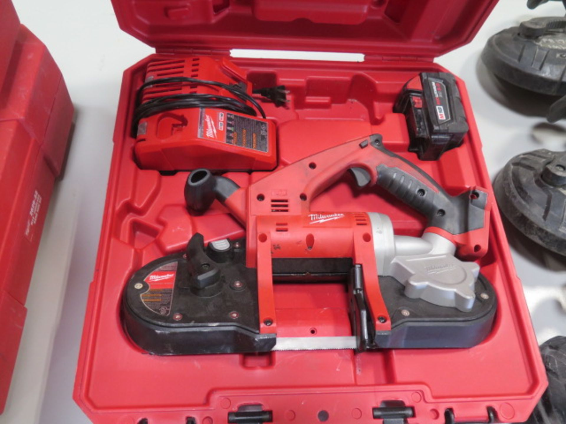 Milwaukee 18 Volt Compact Portable Band Saw Sets (2) (SOLD AS-IS - NO WARRANTY) - Image 7 of 10