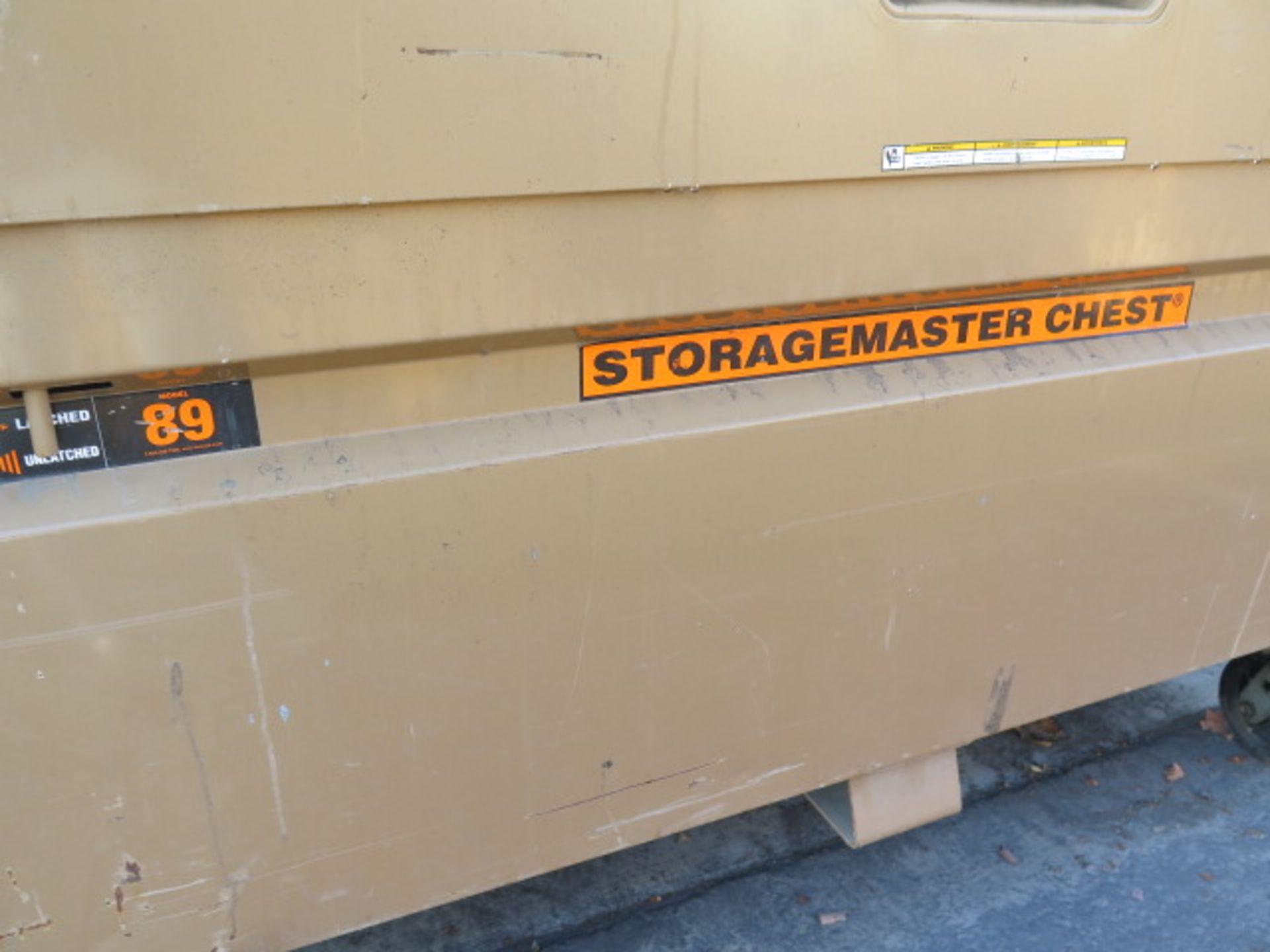 Knaack mdl. 89 Storagemaster Rolling Job Box w/ Ridgid Tri-Stands (SOLD AS-IS - NO WARRANTY) - Image 3 of 11