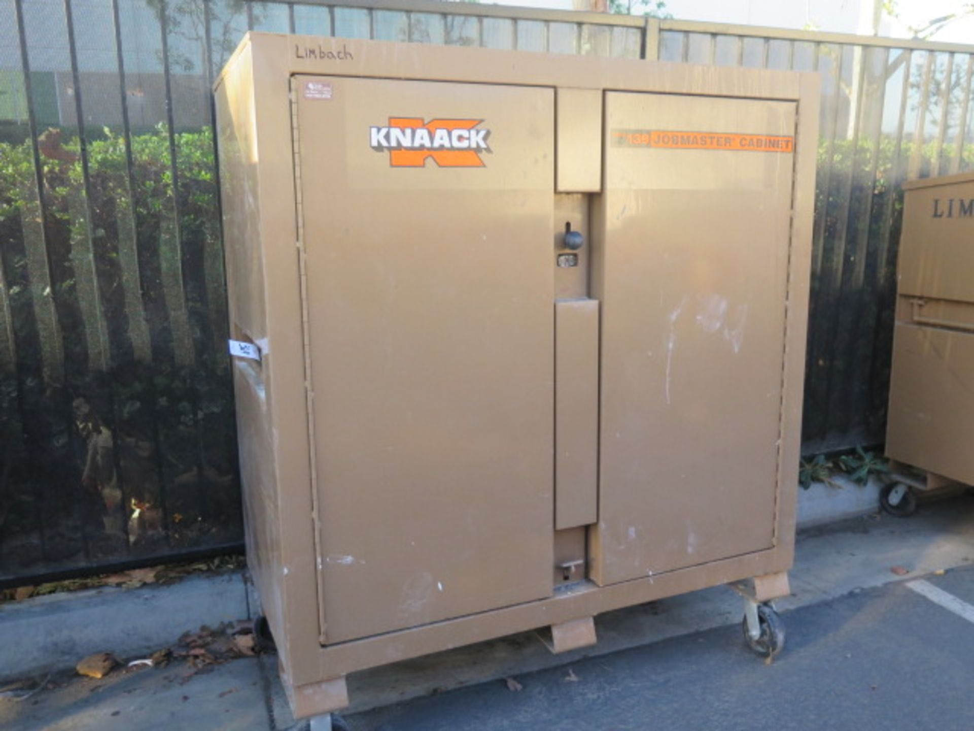 Knaack mdl. 139 Jobmaster Rolling Job Boxw/ Hardware and Supplies (SOLD AS-IS - NO WARRANTY)