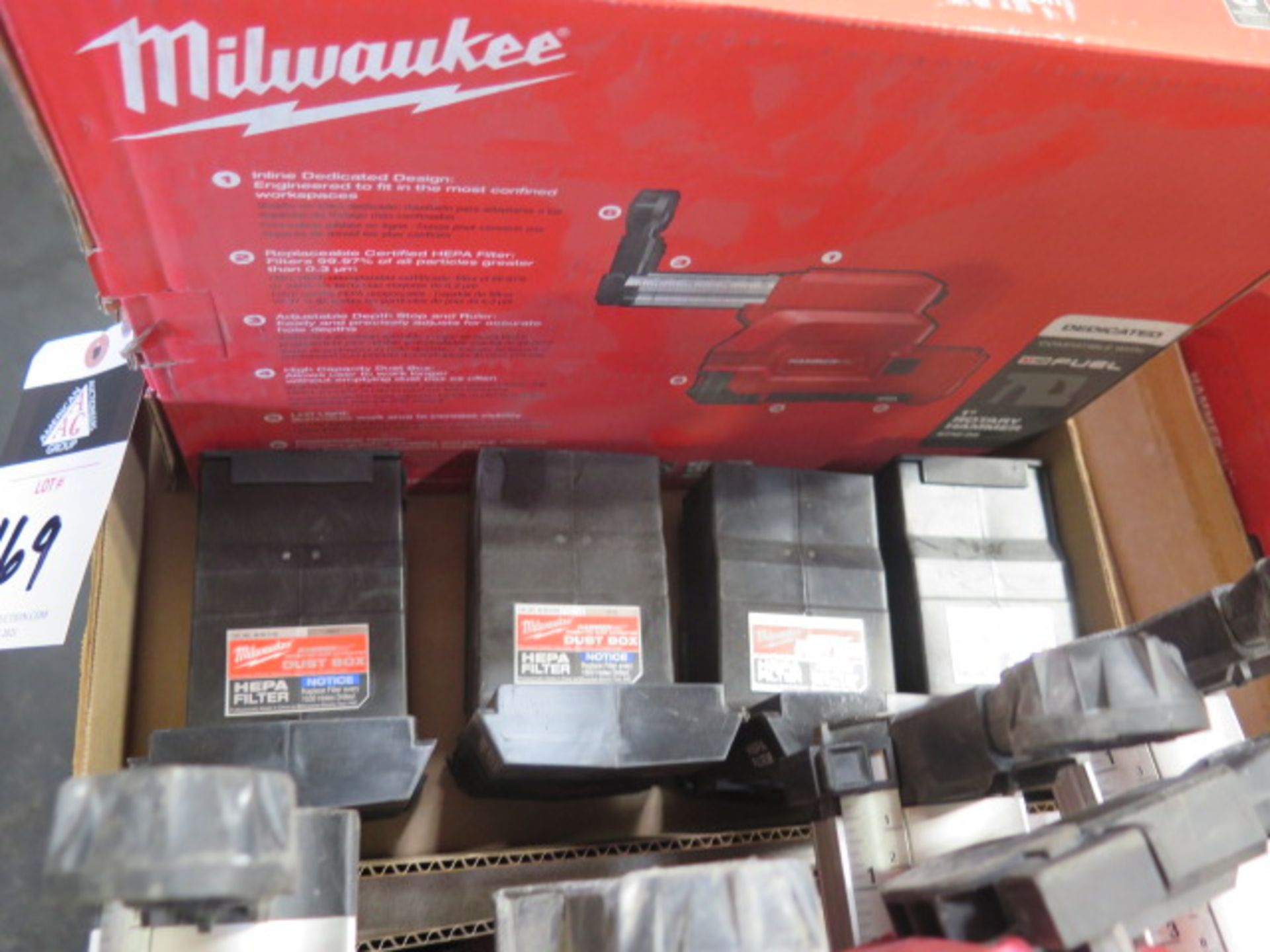 Milwaukee Dust Extractor (NEW) and (4) Filter Boxes (SOLD AS-IS - NO WARRANTY) - Image 2 of 4