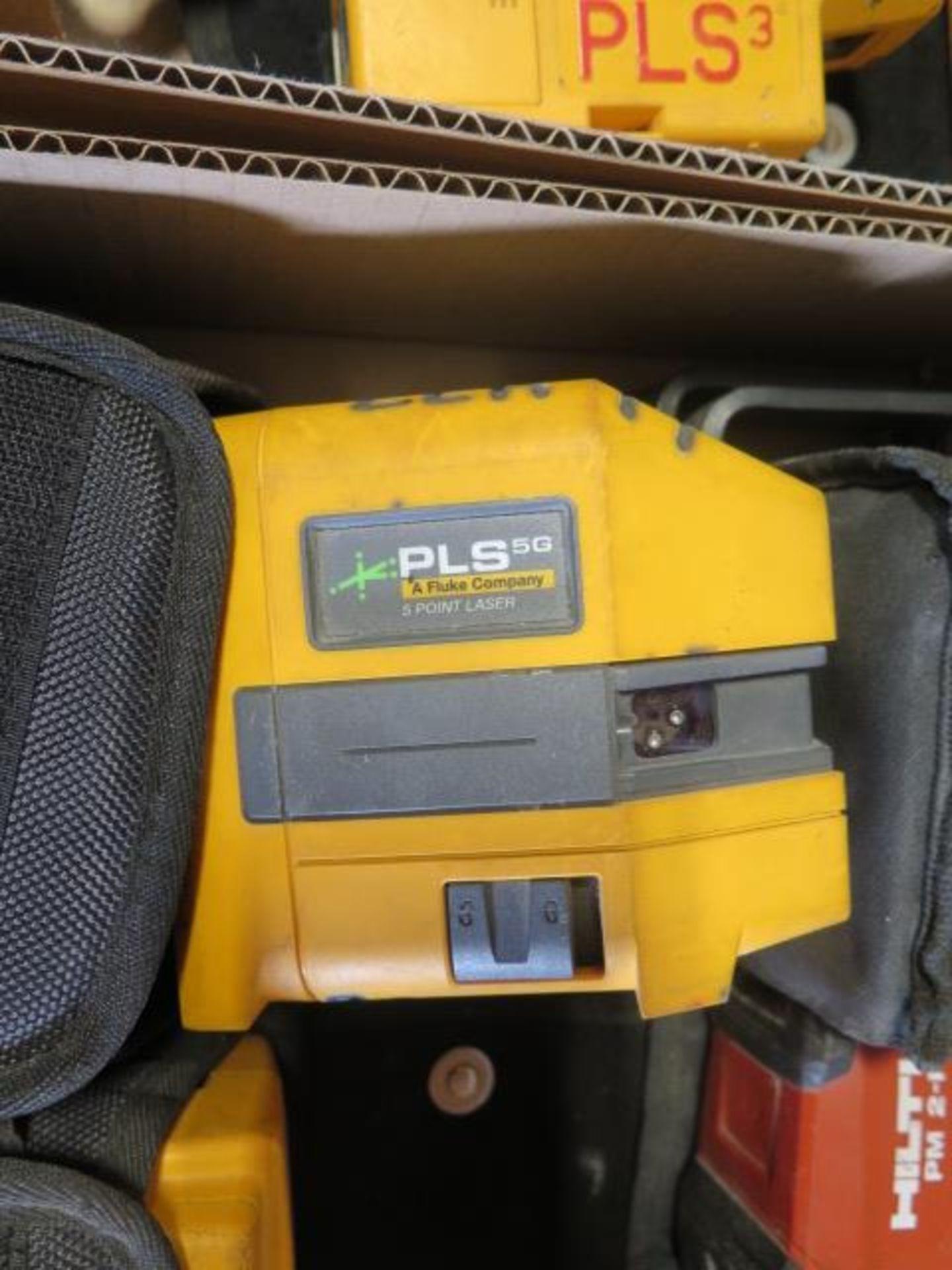 Hilti PM2-P Plumb Laser, Fluke PLS 5G 5-Point Laser Level and Fluke PLS 4 4-Point SOLD AS IS - Image 4 of 5
