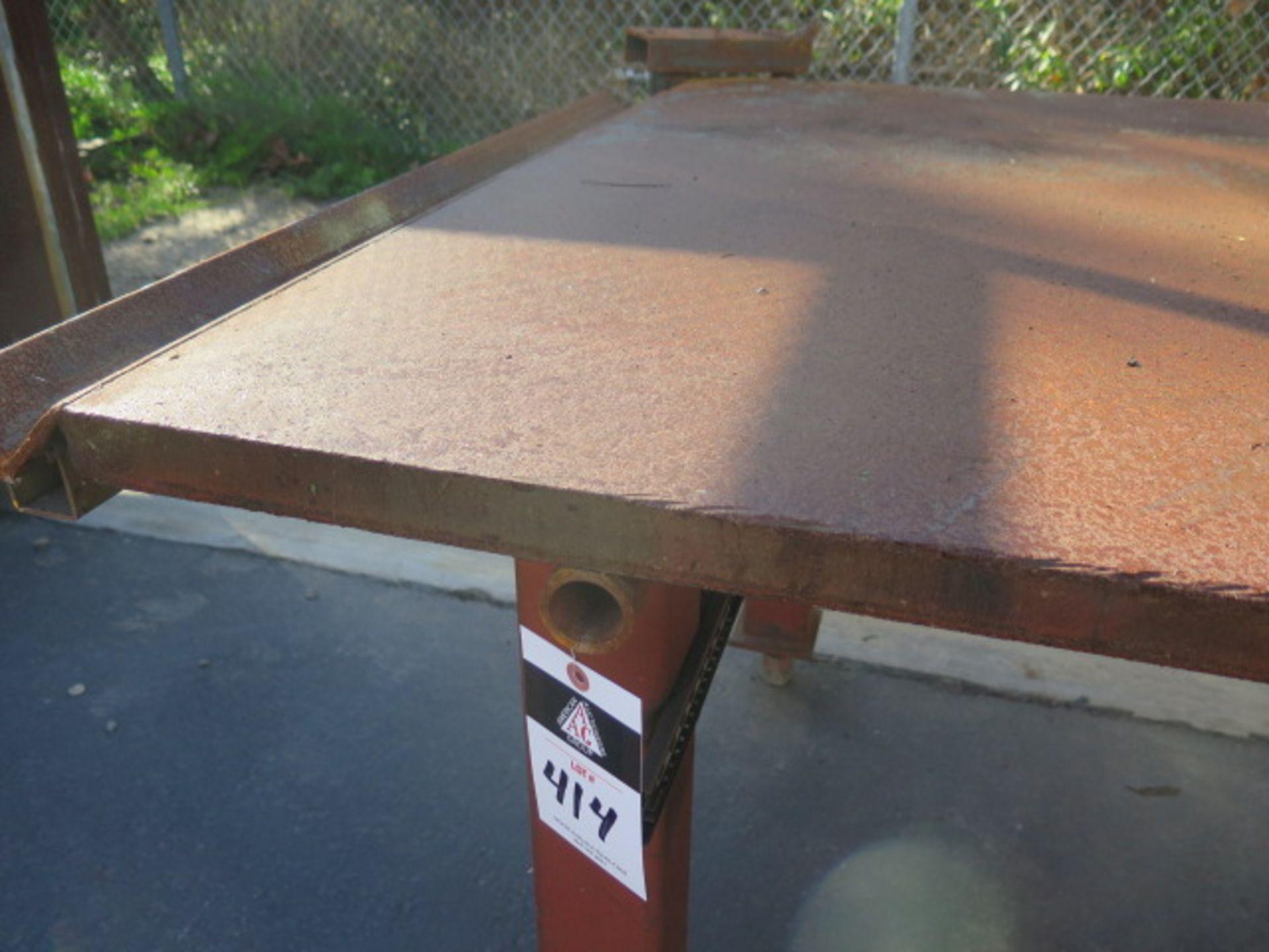 "4' x 8' x 1 1/2"" Steel Welding Table (SOLD AS-IS - NO WARRANTY) - Image 3 of 5"