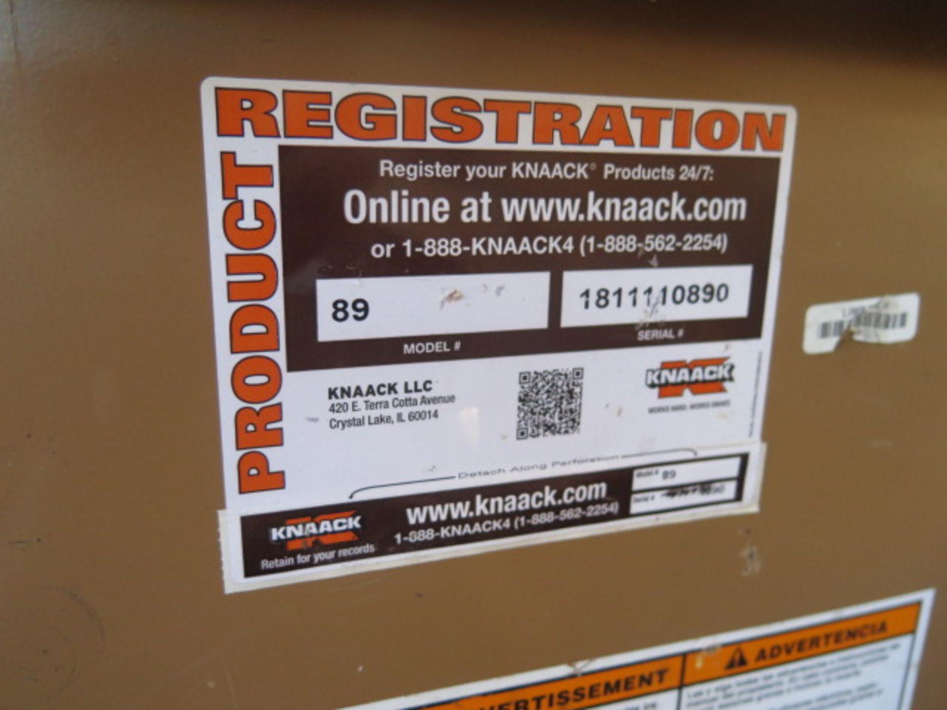 Knaack mdl. 89 Storagemaster Rolling Job Box w/ Ridgid Tri-Stands (SOLD AS-IS - NO WARRANTY) - Image 11 of 11