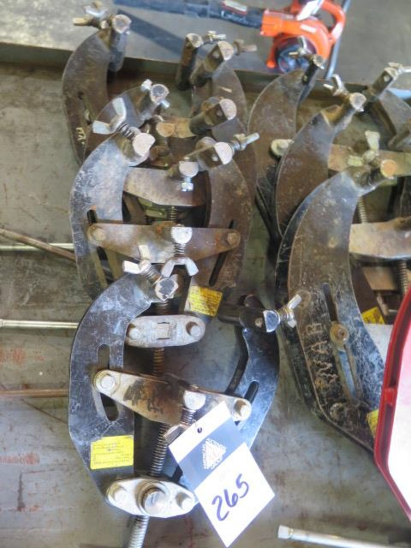 """2""""-6"""" Pipe Alighment Clamps(5) (SOLD AS-IS - NO WARRANTY) - Image 2 of 5"""