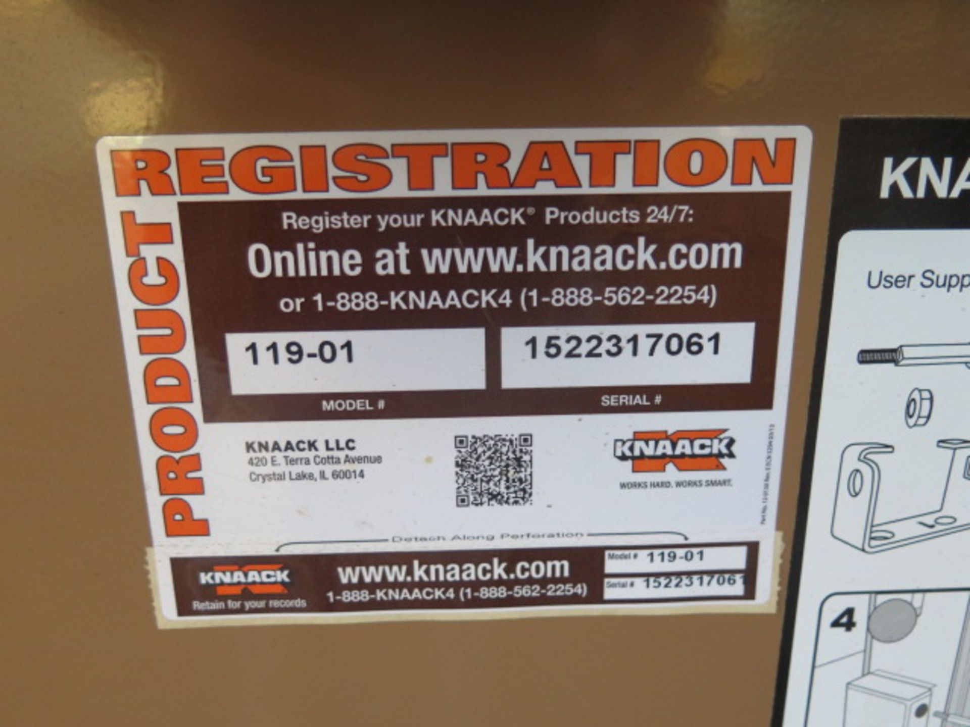 Knaack mdl. 119-01 Rolling Job Box (SOLD AS-IS - NO WARRANTY) - Image 7 of 7