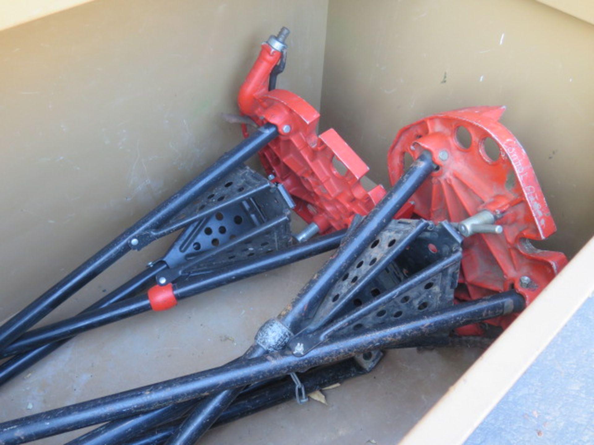 Knaack mdl. 89 Storagemaster Rolling Job Box w/ Ridgid Tri-Stands (SOLD AS-IS - NO WARRANTY) - Image 9 of 11