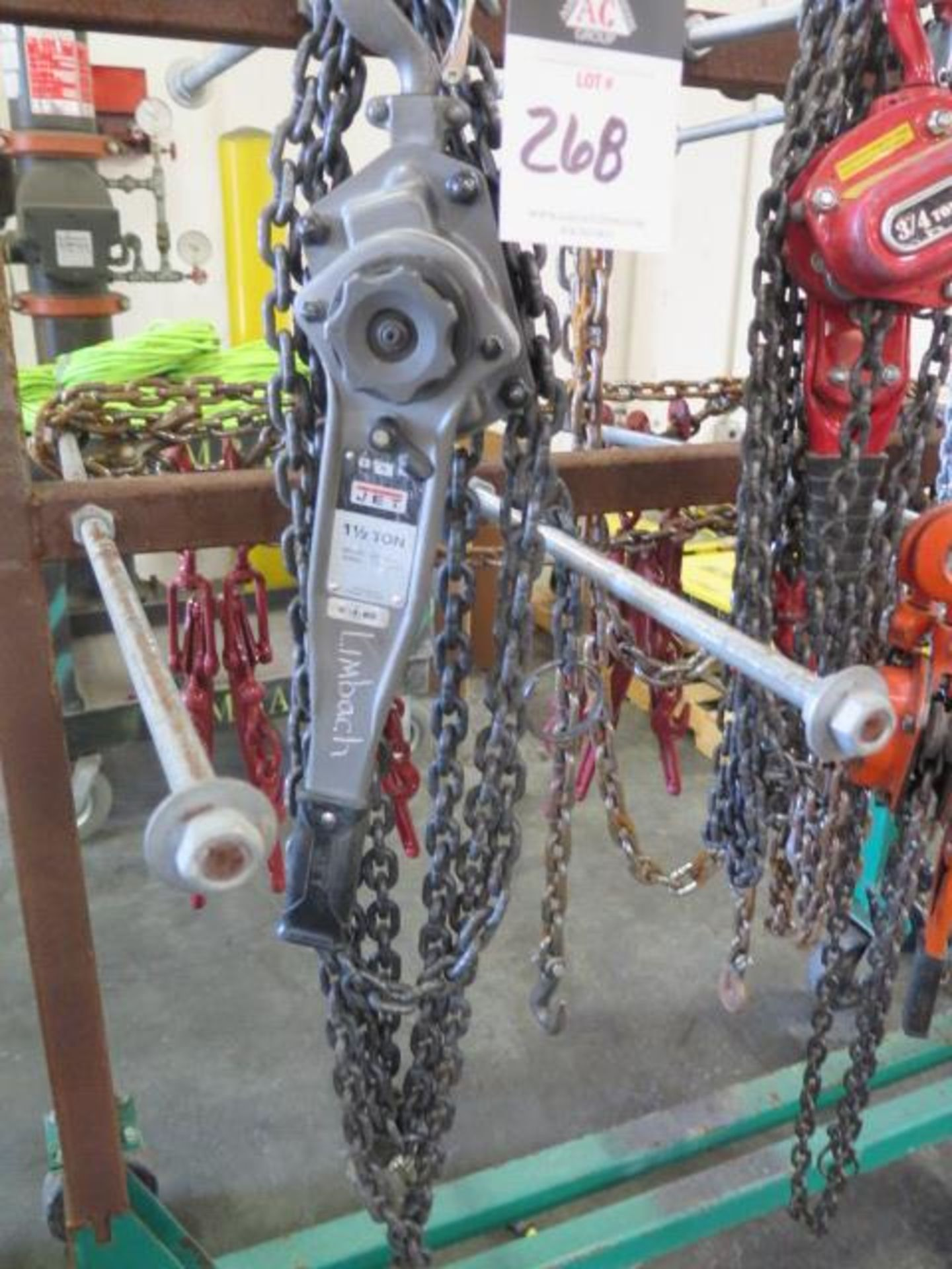 Chain Come-Alongs (4), Chain Tensioners (6) Chain and Cart (SOLD AS-IS - NO WARRANTY) - Image 2 of 11