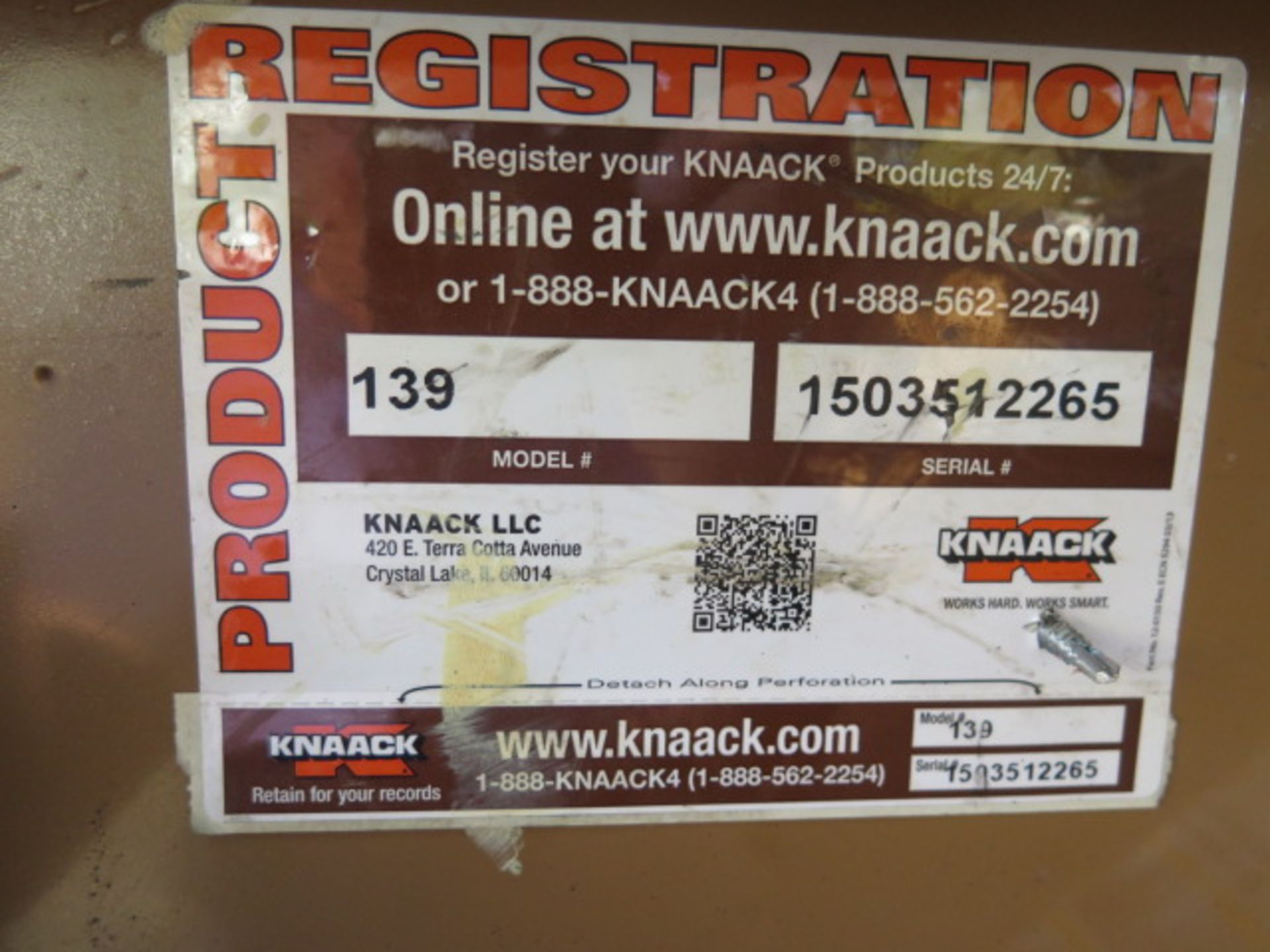 Knaack mdl. 139 Jobmaster Job Box (SOLD AS-IS - NO WARRANTY) - Image 17 of 17