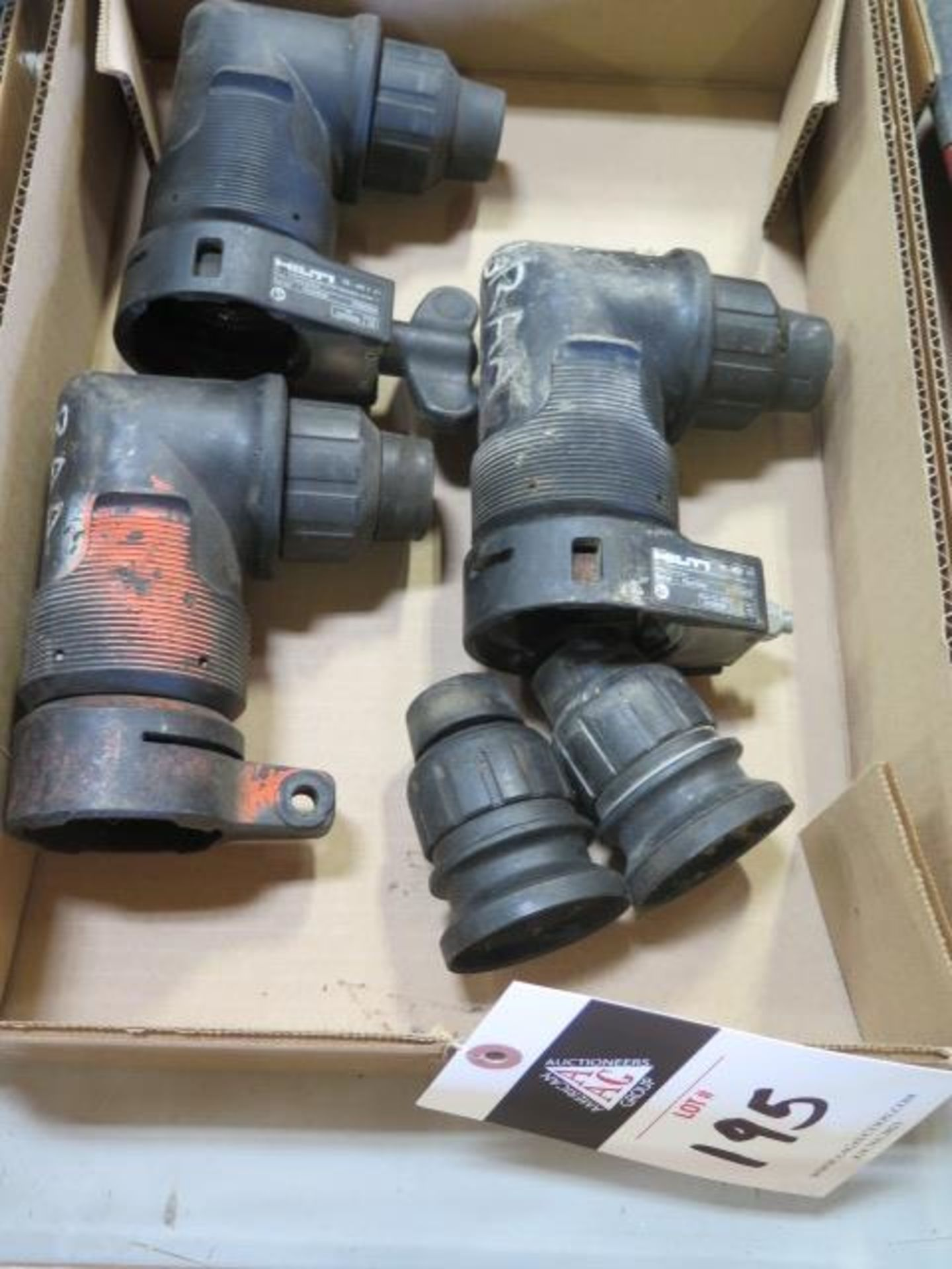 Hilti Interchangable Right Angle Chuck Heads (3) and (2) Straight Chuck Heads (FOR TE30 and TE7