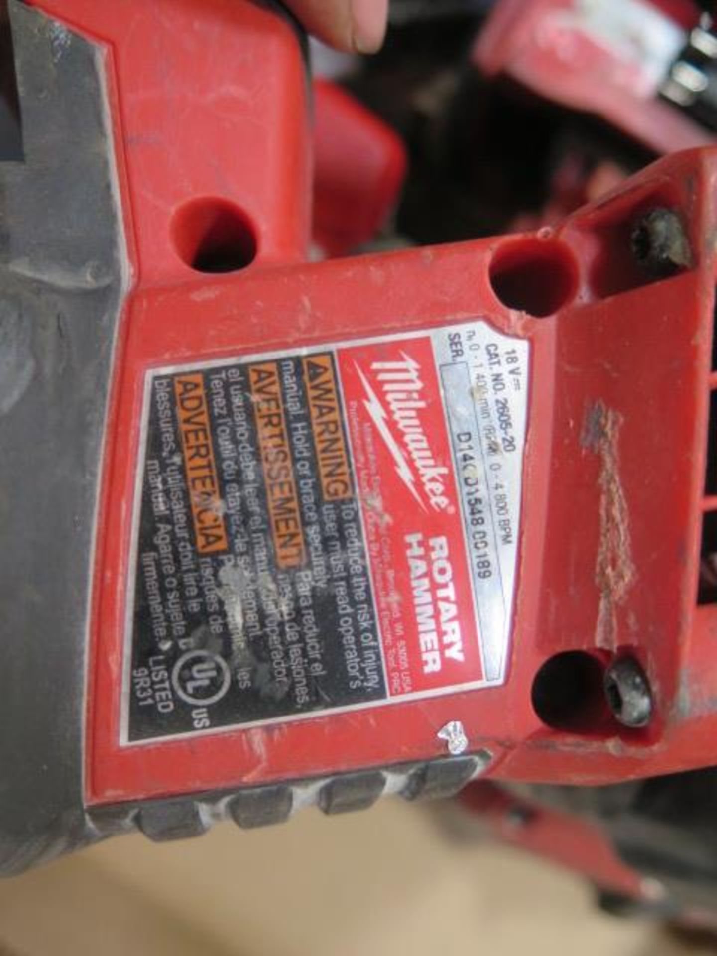 Milwaukee 18 Volt Rotary Hammers (3) (SOLD AS-IS - NO WARRANTY) - Image 5 of 5
