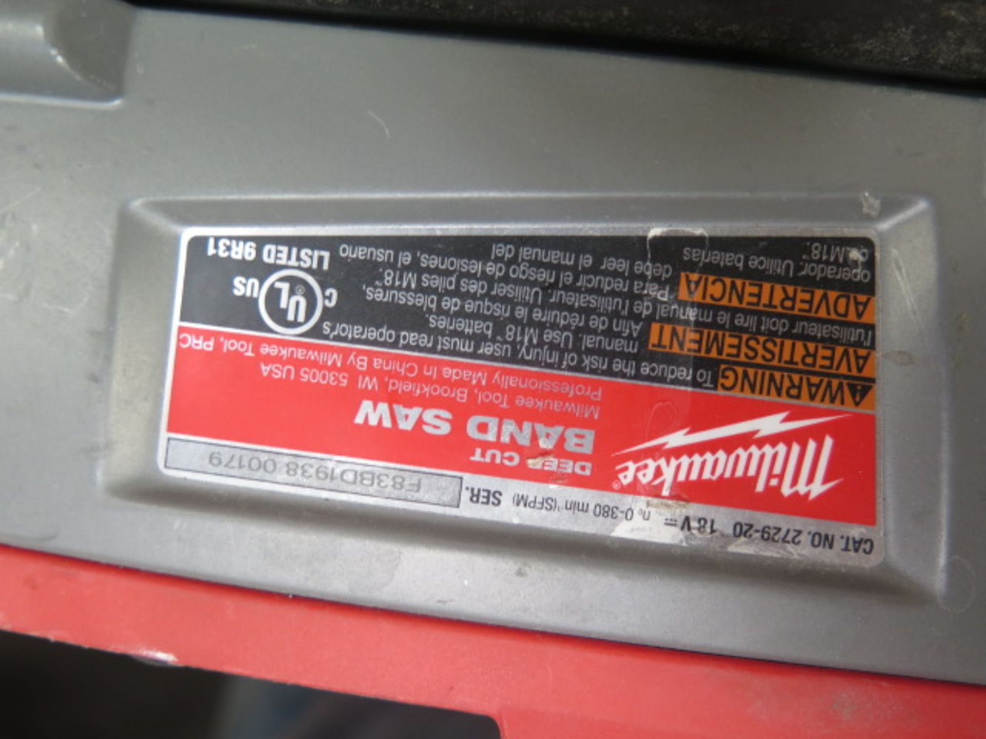 Milwaukee 18 Volt Portable Band Saws (3) (SOLD AS-IS - NO WARRANTY) - Image 7 of 7