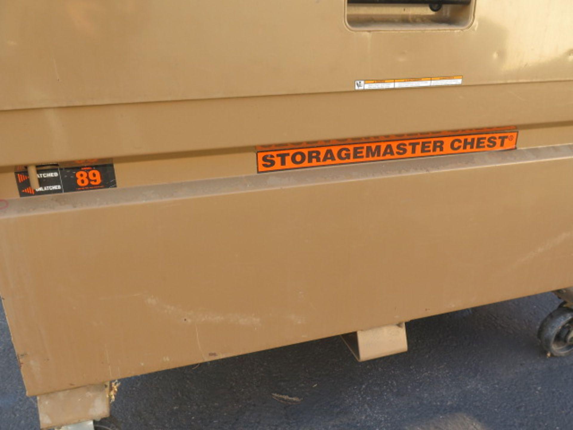 Knaack mdl. 89 Storagemaster Rolling Job Box w/ Come-Alongs (SOLD AS-IS - NO WARRANTY) - Image 3 of 12