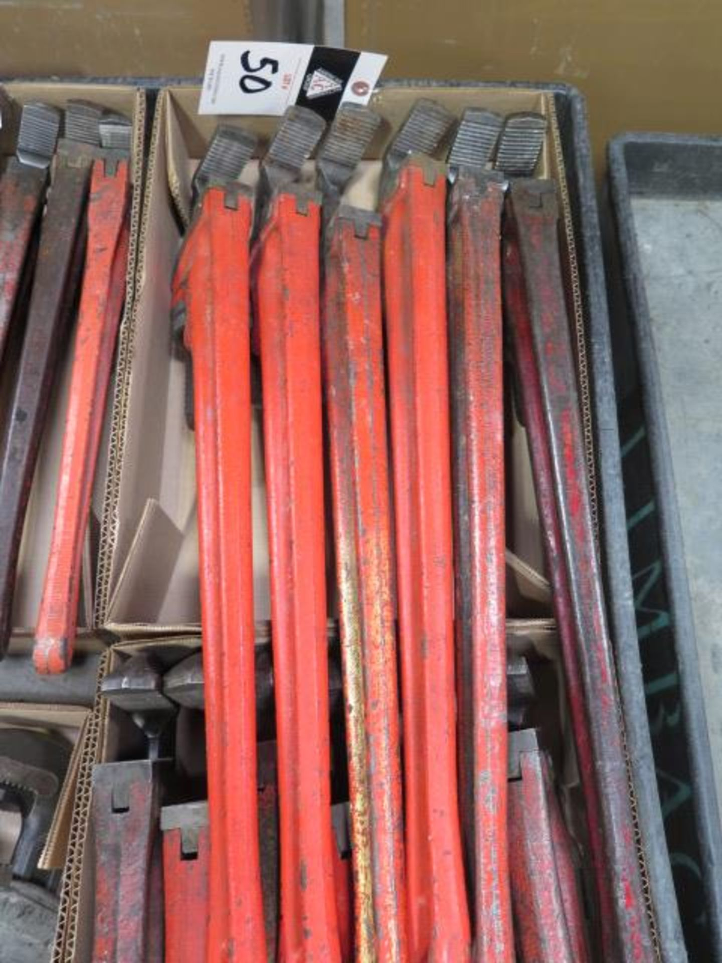 """Ridgid 18"""" and 24"""" Pipe Wrenches (10) (SOLD AS-IS - NO WARRANTY) - Image 2 of 5"""