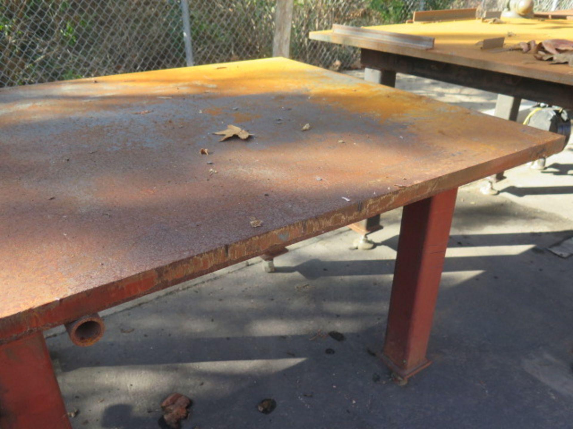 "4' x 8' x 1 1/2"" Steel Welding Table (SOLD AS-IS - NO WARRANTY) - Image 2 of 5"