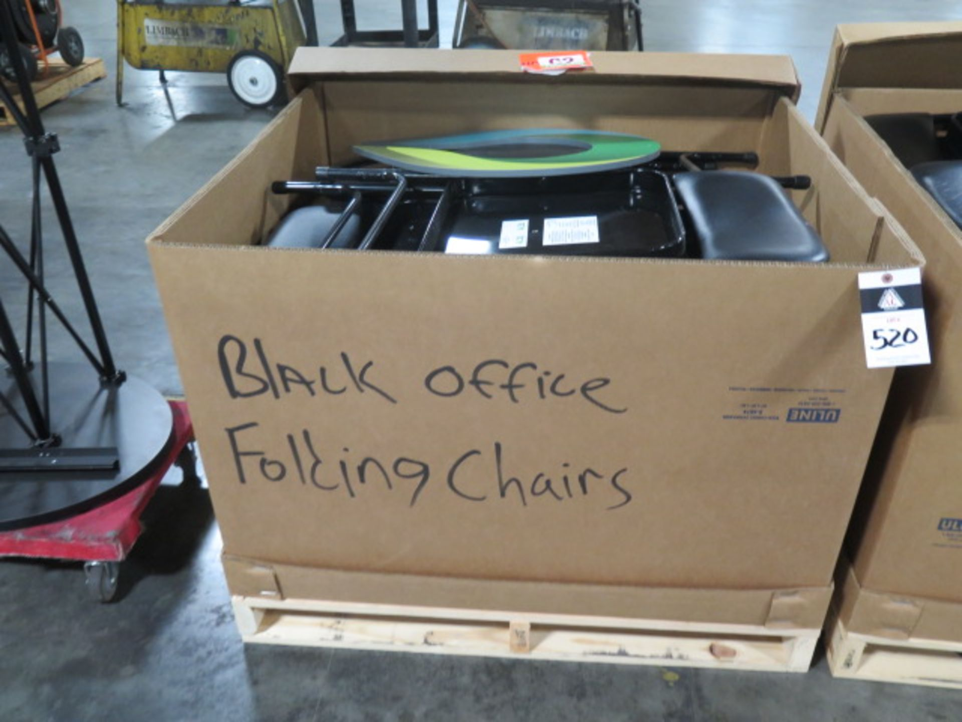 Office Folding Chairs - Black - Padded (2 Crates) (SOLD AS-IS - NO WARRANTY) - Image 3 of 9