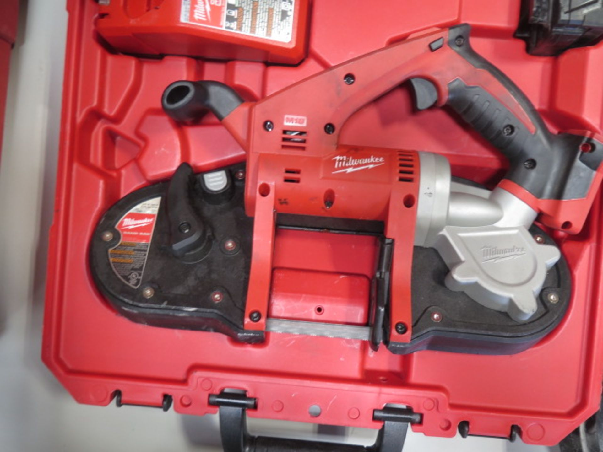 Milwaukee 18 Volt Compact Portable Band Saw Sets (2) (SOLD AS-IS - NO WARRANTY) - Image 8 of 10