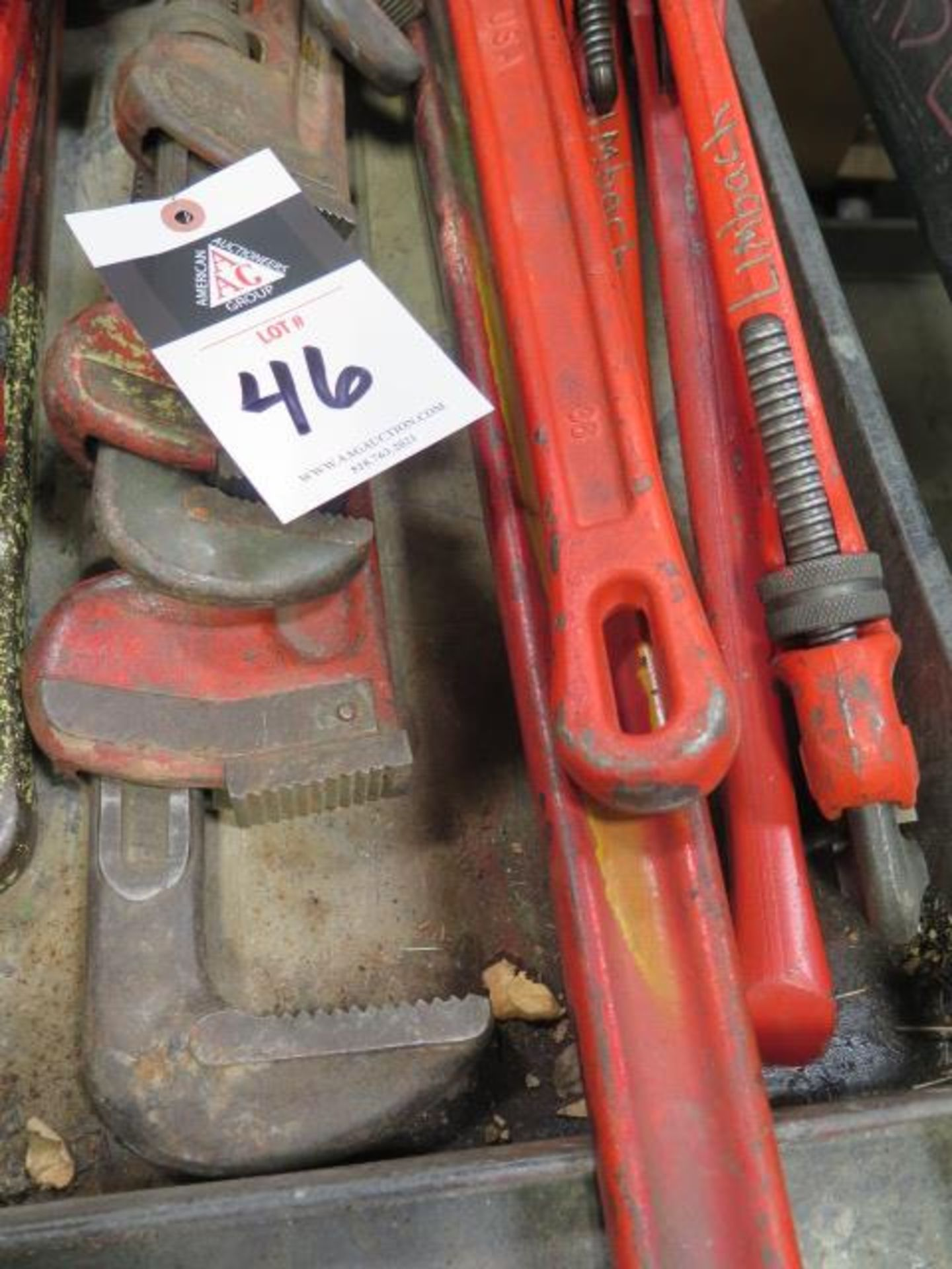"""Ridgid 12"""" to 48"""" Pipe Wrenches (SOLD AS-IS - NO WARRANTY) - Image 4 of 4"""