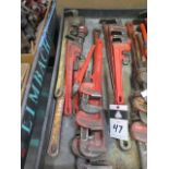 """Ridgid 12"""" to 36"""" Pipe Wrenches (SOLD AS-IS - NO WARRANTY)"""